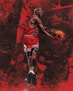 Michael Jordan by Levent Aydin, via Behance