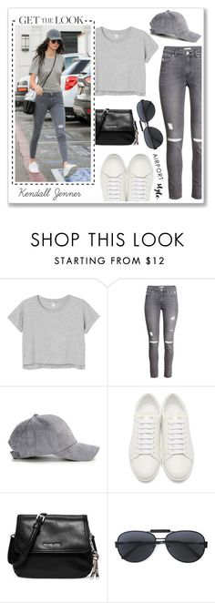 """""""Kendall Jenner Airport Style"""" by anamarija00 ❤ liked on Polyvore featuring Monki, H&M, Yves Saint Laurent, Michael Kors, Versace, GetTheLook, kendalljenner and airportstyle"""