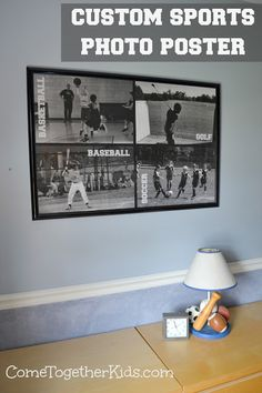 Inexpensive DIY - Make a huge 24x36 sports collage for just a few bucks!