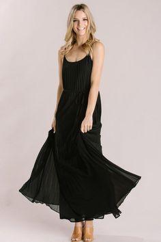 e8d14b321c2 Shop the Dakota Black Pleated Maxi Dress - boutique clothing featuring  fresh