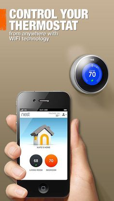 Control your thermostat from anywhere using your smartphone. Click through to see the many WiFi-enabled thermostats available.