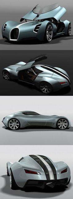 Concept car Bugatti Aerolithe .