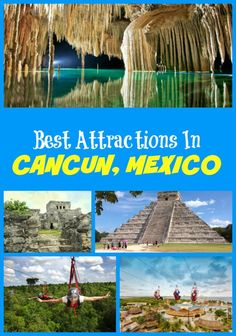 Top Cancun Attractions not to miss for tourists - Selvatica Chichen Itza Tulum Ruins Cenote Ik Kil Avenida Kukulkan Cancun Underwater Museum and more points of interest! Cancun Vacation, Vacation Places, Vacation Destinations, Vacation Spots, Places To Travel, Places To See, Cancun Trips, Cancun Excursions, Cancun Attractions