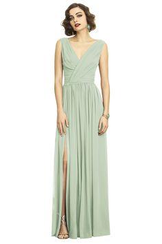 Dessy 2894 Bridesmaid Dress in Sage Green in Chiffon