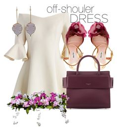 """Show Ur Shoulder"" by dhieta17 on Polyvore featuring Chicwish, Miu Miu, Givenchy, Improvements, dress and offshoulderdress"