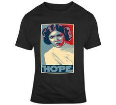 Princess Leia Hope T Shirt Movie T Shirts, Princess Leia, Gifts For Friends, Mens Tops, Movies, How To Make, Stuff To Buy, Fashion, Moda