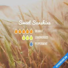 Sweet Sunshine - Essential Oil Diffuser Blend #essentialoil #Essentialoildiffusers