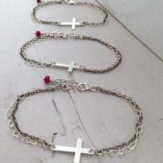 Simple Cross Bracelet by Isabelle Grace Jewelry