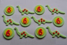 16 x Edible Dinosaur Cupcake Fondant Toppers for Boys or Girls Birthday. £11.99, via Etsy.