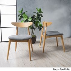 Shop for Barron Mid-Century Dining Chair (Set of 2) by Christopher Knight Home. Get free shipping at Overstock.com - Your Online Furniture Outlet Store! Get 5% in rewards with Club O!