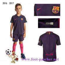 la liga: Maillots FC Barcelone Enfant Kits Exterieur 2016 2017 Moins Cher