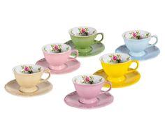 Conjunto de xícaras para café com pires cottage | Westwing - Casa & Decoração