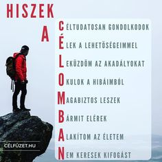 Hiszek a célomban! Learning Quotes, Positive Words, Live In The Now, How To Stay Motivated, Cool Things To Make, Life Quotes, Self, Inspirational Quotes, Success