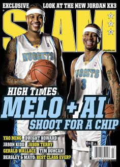 e130304e77b SLAM 115  Denver Nuggets Carmelo Anthony and Allen Iverson appeared on the  cover of the