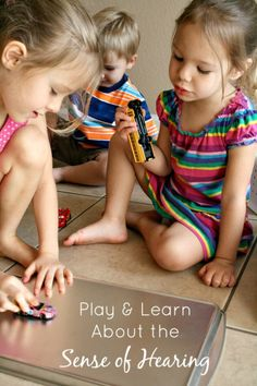 Play and Learn About the Sense of Hearing--fun activity for kids