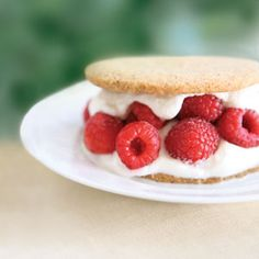 """Raspberry Shortcakes  """"The light, delicate fragility of this shortcake sets it apart from the dense and more traditional shortbread that figures large in Scottish cookery,"""" says chef Jeremy Lee. """"It makes a mockery of the idea that Scottish cookery is heavy and stodgy."""""""