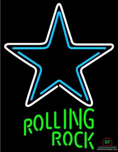 Rolling Rock Dallas Cowboys Neon Sign NFL Teams Neon Light