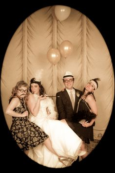 A Roaring Photobooth.It's movie Funny Girl