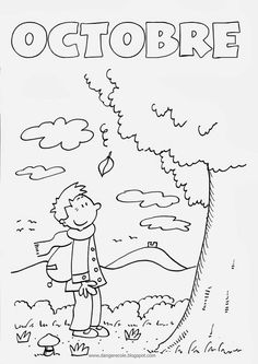 Looking for a Coloriage Octobre Imprimer. We have Coloriage Octobre Imprimer and the other about Coloriage Imprimer it free. Season Calendar, Calendar Time, Autumn Activities, Activities For Kids, Nursery Assistant, Weather For Kids, School Coloring Pages, French Kids, French Education