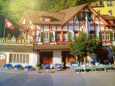 Just had lunch at the old Swiss house Restuarant , lucerne . Named 4 Queen Victoria's stay in A must see here. Went a couple years ago with a friend .had a great time! Places To Travel, Travel Destinations, Travel Around The World, Around The Worlds, Swiss House, Lucerne Switzerland, Travel Couple, Home Deco, Travel Photos