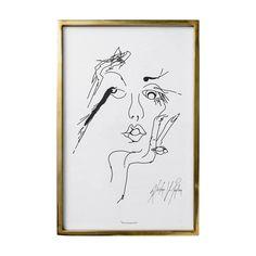 GRAFIKA Z RAMIE GOLD  WOMEN BLOOMINGVILLE 60x40 cm