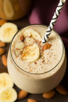 Banana Almond Flax Smoothie - Cooking Classy
