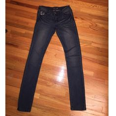 Straight Leg Jeans  Straight Leg Jeans, size 1/2, ( fits more of a size 1) worn once for a half hour. Perfect condition. Cute design on front pocket & the 2 back pockets. Purchased at a boutique for $29.99, selling for $6 .. Selling because I have one too many pairs of jeans. The brand is called Anna Jeans. ❣ Anna Jeans Pants Straight Leg