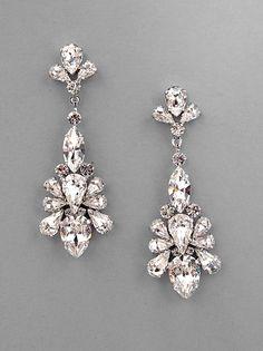 CAPRICE - Crystal Teardrop Statement Earrings