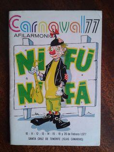 Cancionero de la Nifú Nifá del año 77. Carnaval de Santa Cruz de Tenerife.