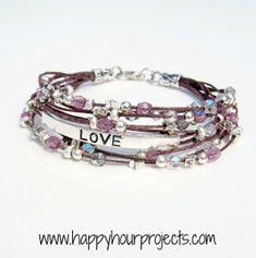 Beaded Inspirational Bracelet | AllFreeJewelryMaking.com