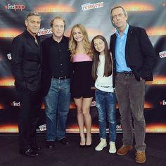 George Clooney, Brad Bird, Britt Robertson, Raffey Cassidy, and Hugh Laurie stopped by