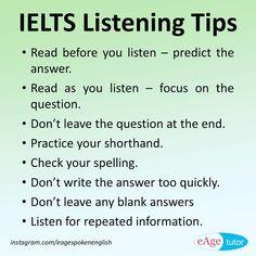 IELTS Listening tips. #ielts #listening