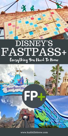 Everything You Need To Know About Disney's Fastpass+ System Disney Tips Fastpass Disney World, Walt Disney World Vacations, Disney World Resorts, Disney Parks, Disney Travel, Disney World Epcot Map, Disney World Rides List, Disneyland Vacations, Orlando Disney