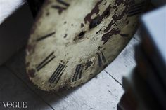 Vogue Magazine - Antique Clock Face, Hulland House, Derbyshire, England. www.ruthellenbrown.co.uk