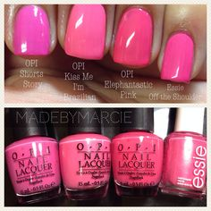 Just in time for summer! Opi Pink Nail Polish, Opi Gel Nails, Gel Polish Colors, Nail Manicure, Shellac, Pink Nail Colors, Cute Pink Nails, Pretty Nail Colors, Opi Colors