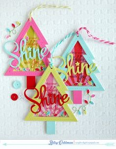 May Your Holiday Shine Tree Tags by Betsy Veldman for Papertrey Ink (September 2014)
