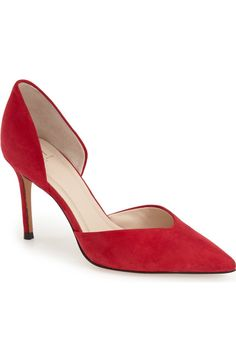 Marc Fisher pump, red suede