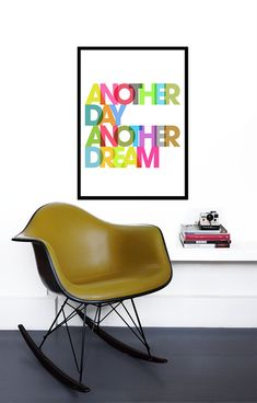 My 'Another Day Another Dream' design is now available in a larger 50 x 70 cm size | Yumalum