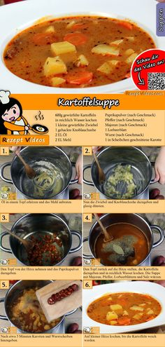 Potato soup is still extremely popular. You can easily find the potato soup video using the QR code :] soup soup healthy recipes rezepte soup soup Veggie Recipes, Soup Recipes, Healthy Recipes, Food Names, Hungarian Recipes, Daily Meals, Potato Soup, Diy Food, Casserole Dishes