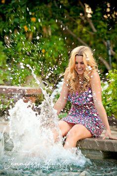 Photographed by Jennifer Yount Photography; www.jenniferyount... #High School Seniors; Seniors; portrait; Girl; female; pose; posing for senior girls | fashion photography | outfits for portraits | senior portraits | senior pictures | pool | splash | outdoor portraits | Palm Springs photographer | Jennifer Yount Photography