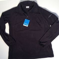 NWT Columbia Half Zip Fleece Jacket New with tags. Solid black. Half zip pullover. Size XL.  The perfect Christmas gift!  NO TRADES. Columbia Jackets & Coats