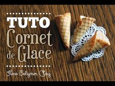 [TUTO FIMO] Cornet de Glâce Réaliste - Polymer clay ICE CREAM CONE Tutorial - YouTube