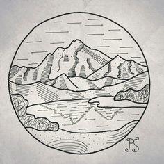 #эскиз #татуэскиз #татуировка #горы #природа #лайнворк #графика #tattoo #tattoosketch #sketch #linework #graphic #mountain #nature