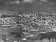 Vista aérea de São Paulo, anos 1940