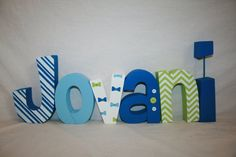 Custom wood letters, Little man decor, 12.00 per letter, Little man baby shower, Wooden letters for nursery, Freestanding wood letters