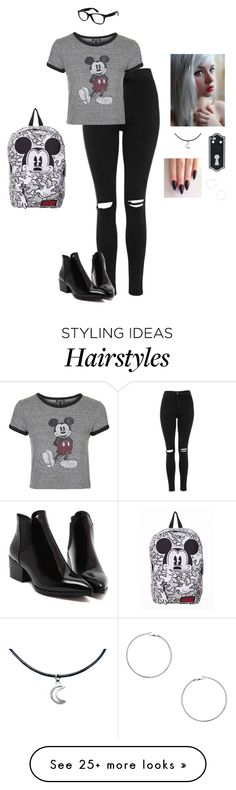 """Disney Freaks"" by hanakdudley on Polyvore featuring Topshop, Ray-Ban and Dorothy Perkins"