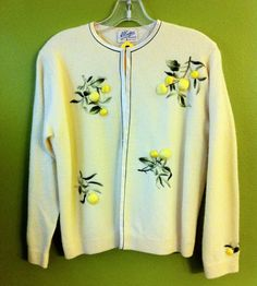 1950s Embroidered Cashmere Cardigan by HattitudeVintage on Etsy