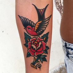 swallow tattoo rose - Google zoeken