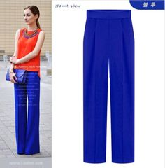 Palazzo Pants High Waist Fall 2014 New European And American Fashion Chiffon Waist Pulz Size S XXL-in Pants & Capris from Apparel & Accessories on Aliexpress.com   Alibaba Group
