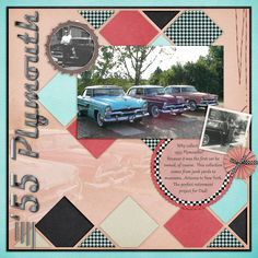 """CT Kim's layout using """"Fabulous 50's"""" by Snips and Snails available at One Story Down: http://onestorydown.com/shop/snips-snails"""